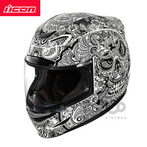 ICONAIRMADACHANTILLY- white -아이콘헬멧입점!!!ICON HELMETS !!