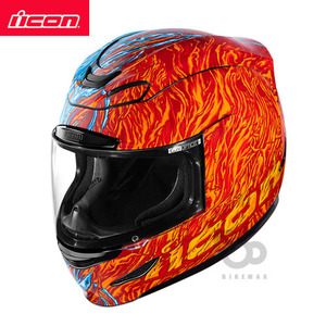 ICONAIRMADAELEMENTAL- red/blue -아이콘헬멧입점!!!ICON HELMETS !!