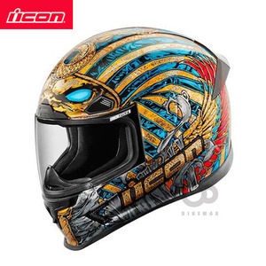 ICON   AIRFRAME PRO   PHARAOH   - gold/blue -  아이콘헬멧입점!!!ICON HELMETS !!