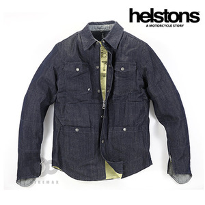 HELSTONSRONY COTTONDENIM SHIRT- blue -헬스톤자켓입점!!